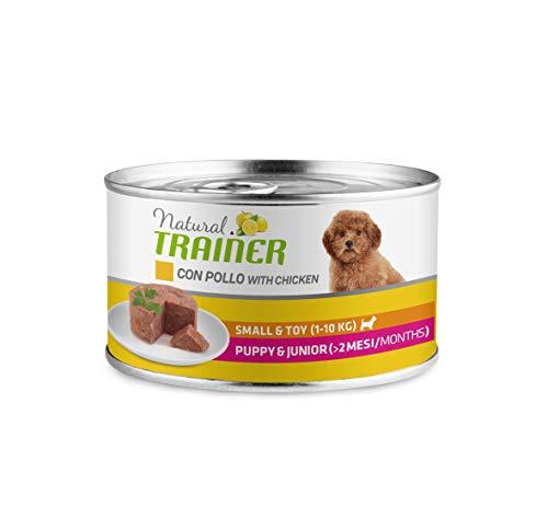 Natural Trainer - Paté per Cani Mini-Toy Puppy-Junior con Pollo - 24 x 150g - 3,6kg