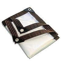 透明な防雨プラスチックターポリン、グロメット付きの耐久性のある車のサンシェード防塵ターポリン (120g /㎡) で利用可能(Size:4 * 6m)