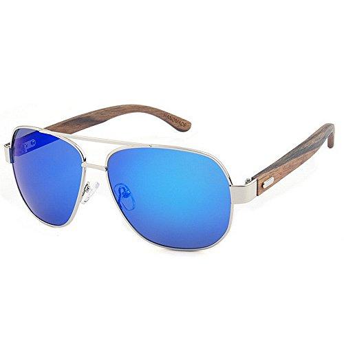 Ppy778 Gafas de Sol de Madera Retro Vintage Designer Wayfarer Aviator Gafas de Sol Deportivas al Aire Libre UV400 (Color : Gold)