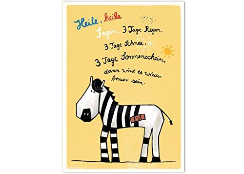 Postkarte baby und Kind Gute Besserung zur Genesung