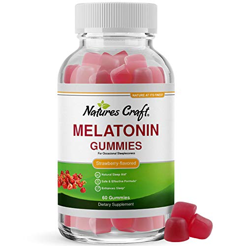 Melatonin 5mg Natural Sleep Aid - Natural Melatonin Gummies 5mg Deep Sleep Supplement for Insomnia Relief - Melatonin Sleep Gummies Vitamins for Adults for Mood Support and Anxiety Relief