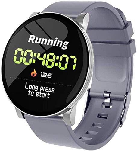 JSL Reloj inteligente de 3 pulgadas con monitor de frecuencia cardíaca, reloj inteligente para hombres, podómetro, pulsera de fitness, reloj inteligente para iOS Android