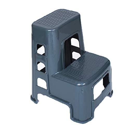 Taburete Escalera, Taburete De Plástico Car Wash Artículos del Hogar Pequeño Taburete Zapato Banco para Adultos Y Niños Escalera,Gris