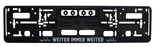 Frei.Wild - Erhaben Nummernschildhalter, Farbe: Schwarz, Größe: 520mm, 3D