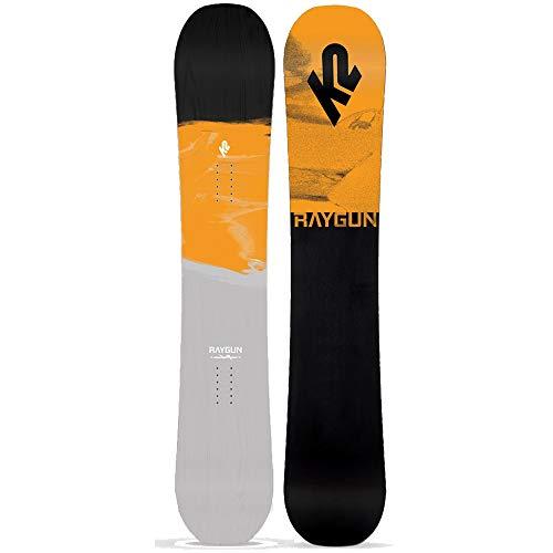 K2 Raygun Pop - Tabla de Snowboard para Hombre, Color Gris, B1902039W, Gris, 157 Wide cm