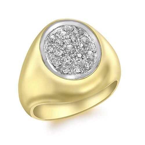 Carissima Gold Anello da Uomo in Oro Giallo 9K con Diamante 0.25ct, Misura 19.7