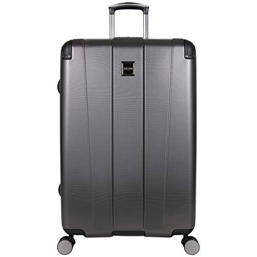 Kenneth Cole Reaction Continuum Hardside 8-Wheel Expandable Upright Spinner Luggage, Charcoal, 28-inch Check Only