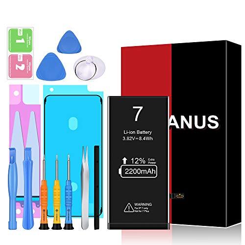 Heganus Akku für iPhone 7 2200mAh, Hohe Kapazität Akku Reparaturset mit Anleitung & Ersatz Klebestreifen Set, Kompatibel mit iPhone 7, Garantie 2 Jahr 100%