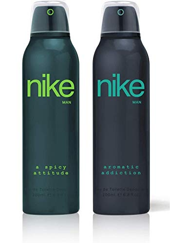 Nike Man Deodorant (A Spicy Attitude/Aromatic Addiction)- Pack Of 2 (200ml Each)