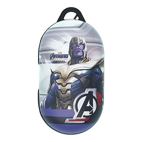 Avengers Galaxy Buds Case Protective Hard PC Shell Cover Compatible with Galaxy Buds & Galaxy Buds Plus (Buds+) - Real Thanos