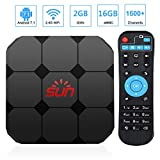 Sun IPTV Box, Android TV Receiver, 1600+ 4K HD International Live Channels from