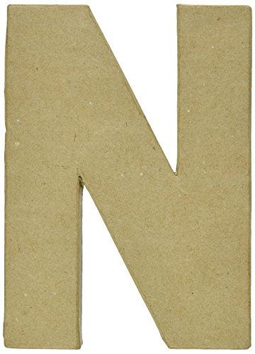 Paper Mache Letter 8quotX51/2quotLetter N 2862N
