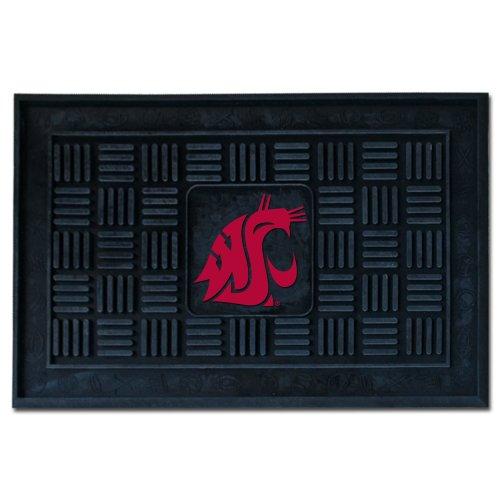 "FANMATS 12781 NCAA Washington State University Cougars Vinyl Door Mat,Black,19""x30"""