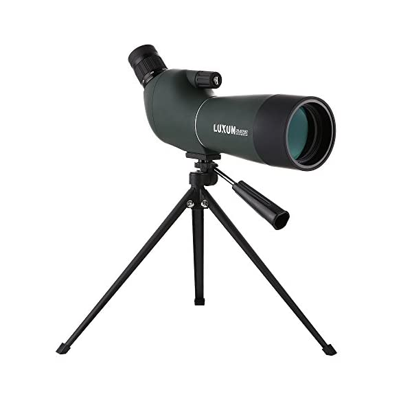 LU2000 Angled Zoom Spotting Scope Telescope, High Power 20-60X60 Waterproof Zoom Single Tube Telescope Monocular HD Target Mirror with Tripod and Portable Bag
