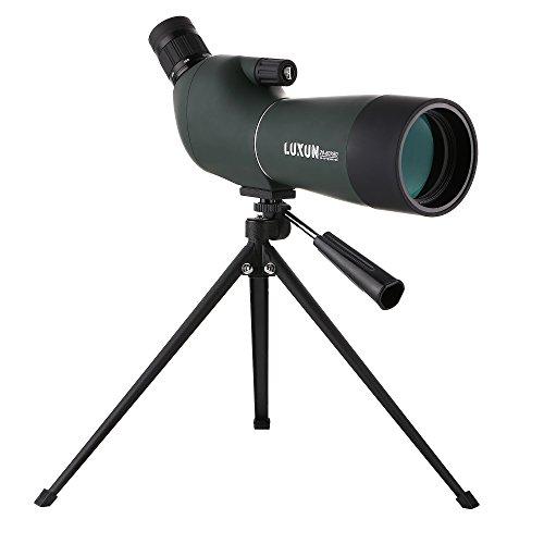 LU2000 Angled Zoom Spotting Scope Telescope, High Power 20-60X60 Waterproof Zoom Single Tube Telescope Monocular HD Target Mirror with Tripod and Portable Bag