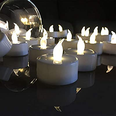 VETOUR 24pcs Tea Lights Candles,LED Tea Lights Candles, Colors Flameless Tea Lights,Steady Flameless Tealights, Long Lasting Battery Operated Candles –Decoration for Party and and Gifts Ideas