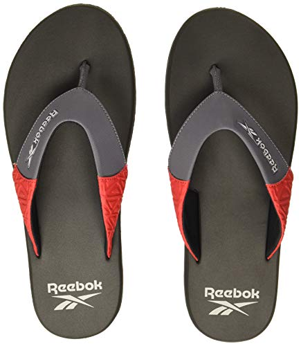 Reebok Men's ZEEK FLIP Swim/Training Flip Flops, Grey, 7...