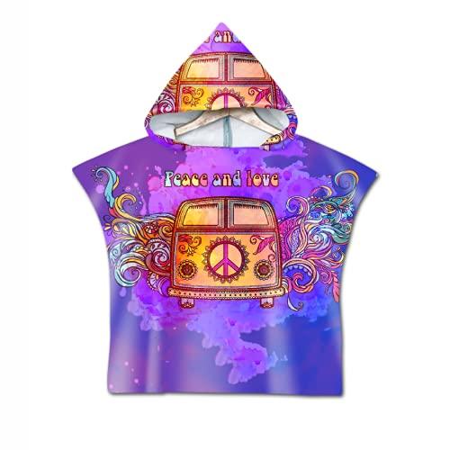 Sochampion Toalla con capucha para niños, 104% algodón con bolsillos, ideal para vacaciones, natación, surf, playa, baño