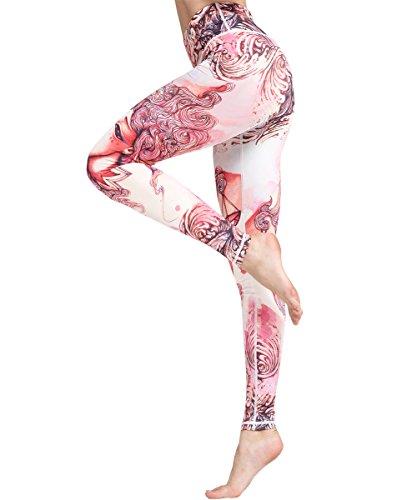 tom+alice Women's Yoga Gym Popular Printed Buttery Soft Leggings Fashion Thin Pants,Yoga Power Flex Dry-Fit Pants Workout Printed Leggings