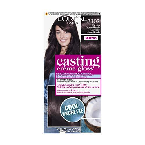 L'Oreal Paris Casting Crème Gloss Baño De Color 3102 Castaño Oscuro Helado 240 g