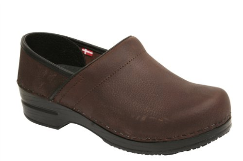 Sanita Women's Professional Albertine Clog in Brown WR Oil Leather