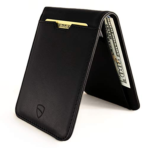 Vaultskin MANHATTAN Slim Minimalist Bifold Wallet and Credit Card Holder with RFID Blocking and...