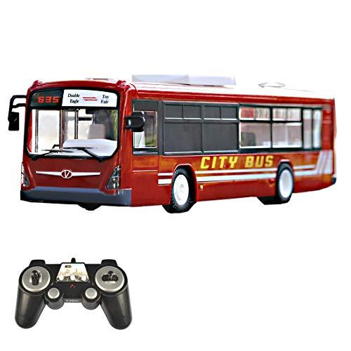 MARLO City Express Bus, 2,4Ghz RC Car Hochgeschwindigkeits Ferngesteuerter Bus mit realistischen Tönen und Licht Stadtbus Spielzeug für Kinder/Erwachsene - Rot