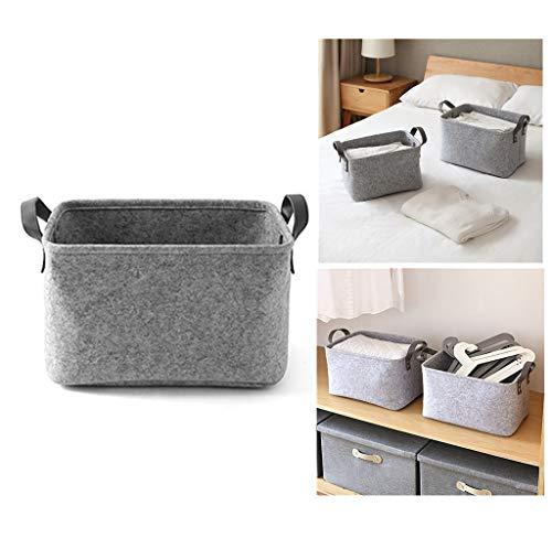 Filzkorb, als Wäschekorb oder zur Aufbewahrung von Spielsachen, grau, Large