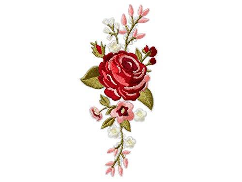 Applikation aufbügelbar Blütenranke bordeaux, ca6x15cm 16053