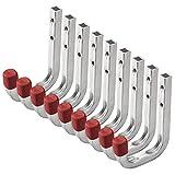 9 pezzi OrgaTech Gancio Multiuso Gancio da Muro Gancio da Montaggio in Acciaio Zincato / 80 x 120 mm / Portata 45 kg / Gancio Universale Gancio da Cantina o Garage