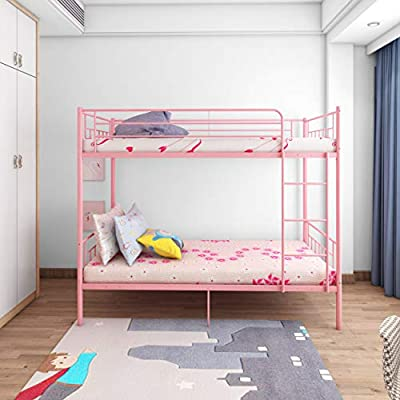 Panana 4 Colors Available Twins Single Bunk Bed 2pcs 3FT Metal Bed for Twins Adults Bedroom