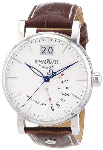 Bruno Söhnle Herren-Armbanduhr XL Pesaro I Analog Quarz Leder 17-13073-241