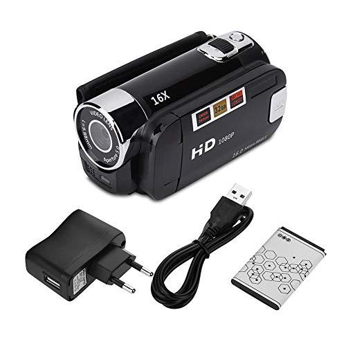Socobeta Camcorder Digitalkamera Full HD 270 ° Drehung 1080P 16X High Definition Digital Camcorder Video DV Kamera(EU-SCHWARZ)