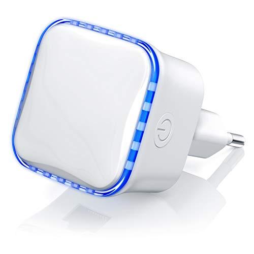 CSL - mini WLAN Repeater 300 Mbits für die Steckdose - WiFi WLAN Verstärker inkl WPS-Taste - Netzwerkadapter - 2,4 GHz - Access Point - RJ45 Port - Signalverstärker - geeignet für AVM Fritzbox Telekom