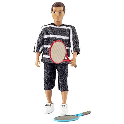 Lundby Father with 2 Tennis Rackets, Doll's House Padre con 2 Raquetas de Tenis, casa de muñecas, Multicolor (Micki Leksaker AB 60-806900)