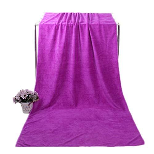 IAMZHL Microfibra para Toalla De Playa Toallas De Baño Súper Grandes Absorbentes De Agua Súper Suave Deportes Aqua Gym Toalla De Microfibra-purple3-70x140cm 80x180cm