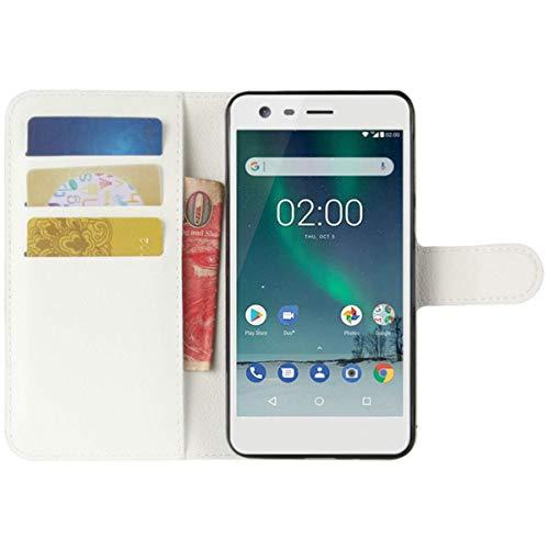 HualuBro Cover Samsung Galaxy S5 Active, Flip Case in PU Pelle Premium Portafoglio Cover [Funzione Stand] [Slot Carte] Leather Wallet Phone Custodia per Samsung Galaxy S5 Active (Bianco)