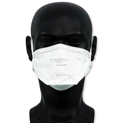 FFP2 Maske ohne Ventil ◆ Atemschutzmaske Staubmaske Mundschutzmaske ◆ CE 2163 EN149 zertifiziert ◆ 10 Stück - 8