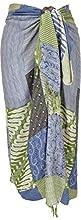 Guru-Shop, Bali Sarong - Falda para colgar en la pared, estampado de patchwork de sarong, azul/verde, sintético, tamaño: 160 x 120 cm, pareos y toallas de playa