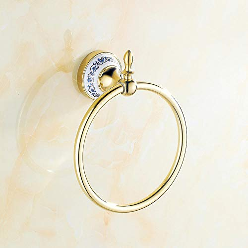 Robe Haak Muur Mount Euro-Style Handdoek Houder Ring Gouden Chroom Muur Sjaal Zwembad Accessoires Handdoek Ring Keuken Badkamer Accessoires B