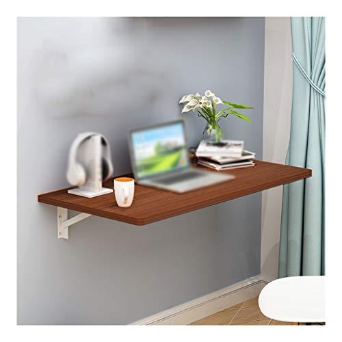 Teca Color de la Pared Colgante de la Tabla Plegable Mesa de Ordenador Mesa de Comedor Decoración de Almacenamiento Estante de la Pared Mesa de Estudio (Color : A, Size : 90 * 50cm)