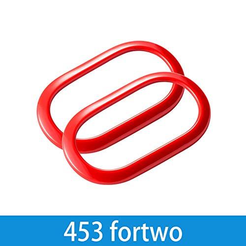 AniFM Accessori per Lo Styling degli Interni per la Decorazione della Maniglia della portiera per Mercedes Smart fortwo forfour 453,fortwo-Red