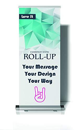 Rollbanner - Pull-Up Display Banner Ständer mit gedruckter Grafik