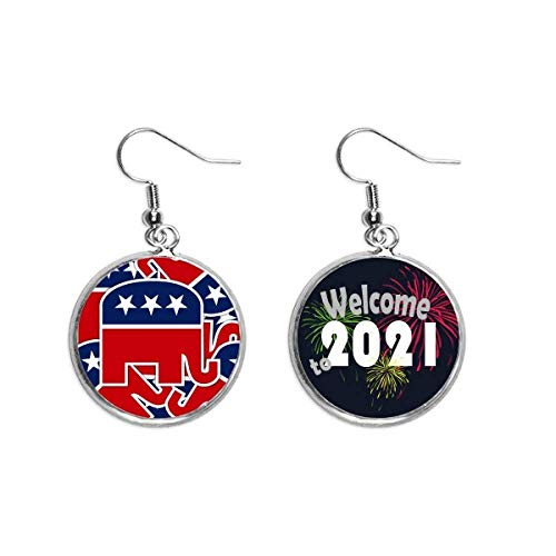 América, diseño de elefante republicano, pendientes de joyería 2021 bendición