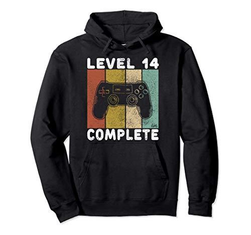 Camiseta Gamer Para Niños 14 Años Regalo 14 Cumpleaños Sudadera con Capucha