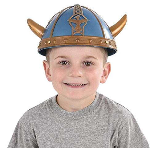 Viking Warrior Helmet Horns Kids Childs Dressing Up Hat Fancy Dress Accessory