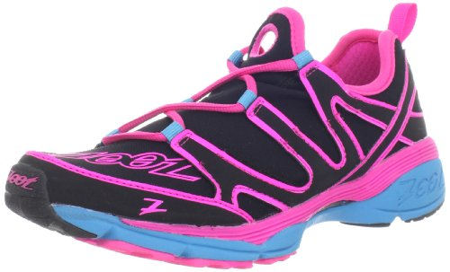 Zoot Women's Ultra Kalani 3.0 Running Shoe,Black/Pink Glow/Atomic Blue,8 M US