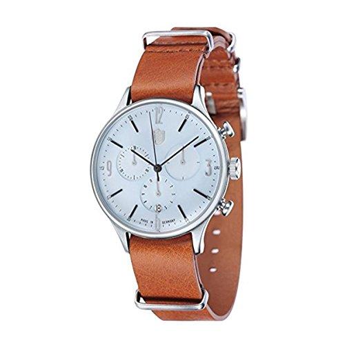Dufa Deutsche Uhrenfabrik Orologio Cronografo Quarzo Unisex con Cinturino in Pelle DF-9002-07