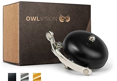 OWL VISION Fahrradklingel Hoot - Classic (Black)