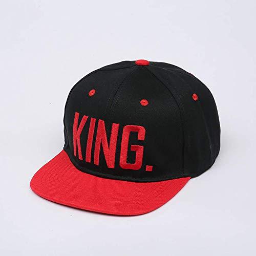 Gorra de Beisbol 4 Colores King Queen Bordado Snapback Sombrero Acríl